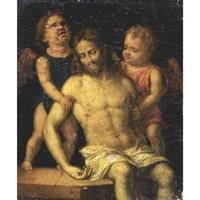 the dead christ supported by two angels by giovanni battista cima da conegliano
