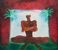 personnage aux deux palmiers by patrick lanneau