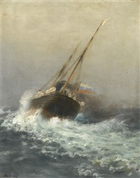 steamship on high seas by lev felixovich lagorio