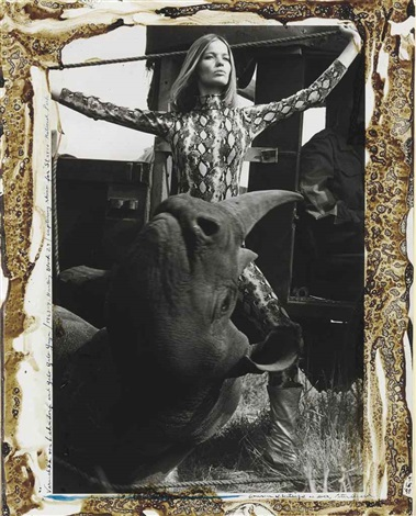 veruschka von lehndorff and galo galo guyn hunting block 29 capturing rhino for starvo national park by peter beard