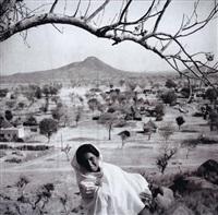 jeune femme dans un paysage by abbas habibala abdulatif