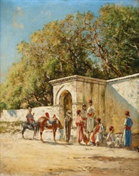 porte aux environs de tunis by victor pierre huguet
