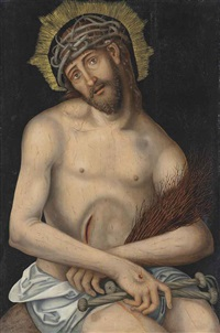 christ as the man of sorrows by lucas cranach the younger
