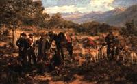 the boar hunt by manuel alcazar y ruiz