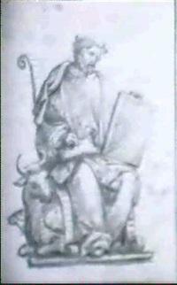 der evangelist markus mit dem stier by christoph amberger