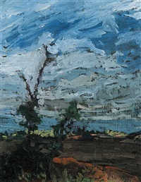 untitled - stormy june day by lowrie lyle warrener
