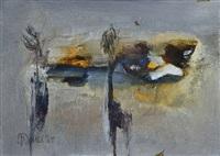 winter landscape and summer landscape (pair) by gerald davis