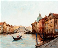 gondelier in venetië by jan korthals