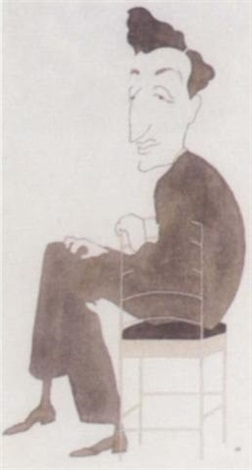 caricature of a p herbert by nicolas bentley