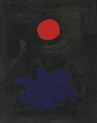 blue on black by adolph gottlieb