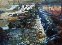 autumn, salmon weir, galway by kenneth webb