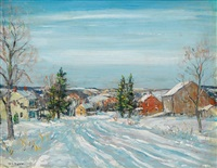 winter scene by walter emerson baum