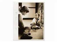 john lennon with son julian by henry grossman