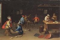 monkeys in a cobbler and a shoe shop by ferdinand van kessel