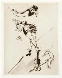 l'acrobate au violon by marc chagall