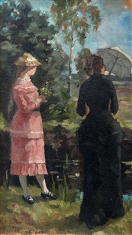 two girls by akseli valdemar gallen-kallela