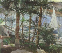 feluccas, aswan by mary jackson