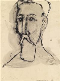 portrait des komponisten joseph matthias hauer by heinz leinfellner