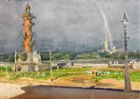 rainbow over the vasilievsky island by anna petrovna ostroumova-lebedeva