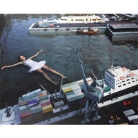 floating in harbour (from serie teenage stories) by julia fullerton-batten