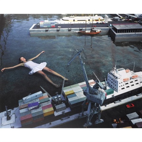 floating in harbour from serie teenage stories by julia fullerton batten