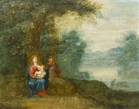flight from egypt by peeter van avont
