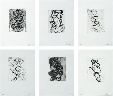 han shan exit 1 6suite of 6 by brice marden