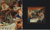 after renoir (the luncheon of the boating party, 1881) by david bierk