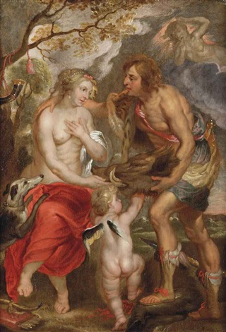 meleager presents the boars head to atalanta by sir peter paul rubens