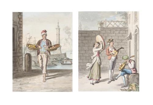 figure studies (album w/44 works) by david allan