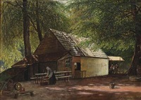 at an inn in the deer garden, north of copenhagen by david monies