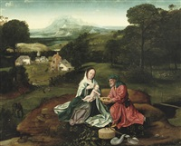 the rest on the flight into egypt by joachim patinir
