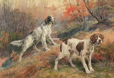 setter and pointer by edmund henry osthaus