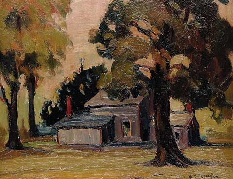 untitled house in the trees by mildred valley thornton