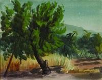landscape by victor michail arnautoff