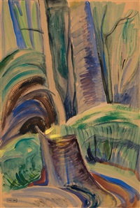 Stump in Forest, 1935
