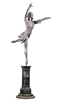 a ballerina on pedestal by tom merrifield