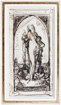 untitled (gloria victis?) by gustave moreau