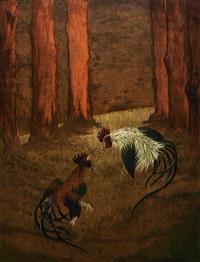 deux coqs by georges victor laurent dantu
