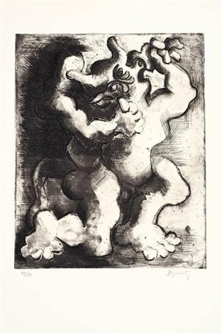 combat dun homme et dun minotaure by jacques lipchitz