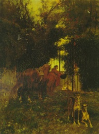 courtier at the gate by eduardo zamacois y zabala