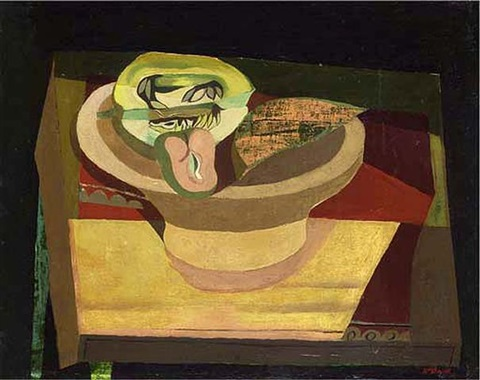 green still life by robert macbryde