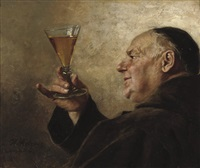 the winetaster by heinrich stelzner