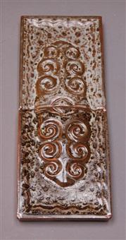 dekorfliesen (pair) by großherzogliche keramische manufaktur