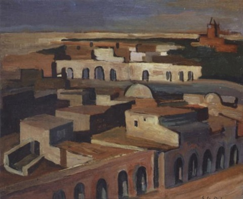 la grande place touggourt by georges le poitevin