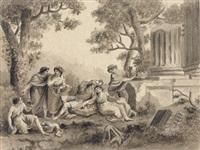 compagnia di giovani coppie con sonatori by antonio zucchi