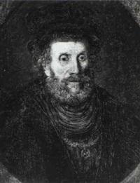 portrait of a bearded gentleman wearing a hat by paulus lesire