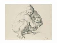 madre con niño by francisco zúñiga
