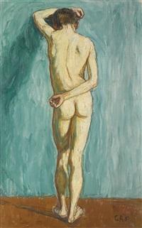 männlicher rückenakt (male nude, back view) by christian rohlfs