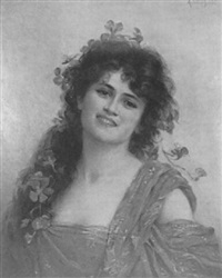 a dark-haired beauty by achille (georges) fould